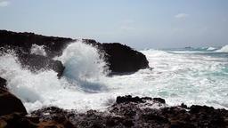Waves splashing at the shore, slo-mo Footage