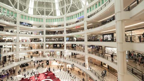 4K Timelapse: People in Shopping Mall. Kuala Lumpur, Malaysia - 18 MAR 2018 Footage