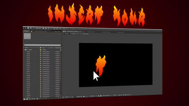 Vector Flame Text AE 模板