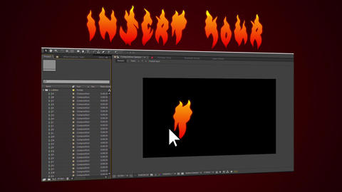Vector Flame Text After Effects Template