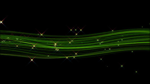 Green hair line particle Animation