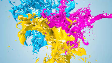 Paint Splash logo Premiere Pro Template