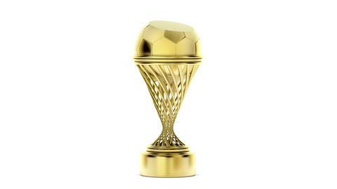 Golden football trophy Animation