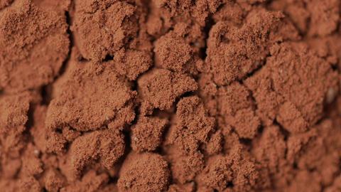 Rotating Cacao Powder macro shot Live Action