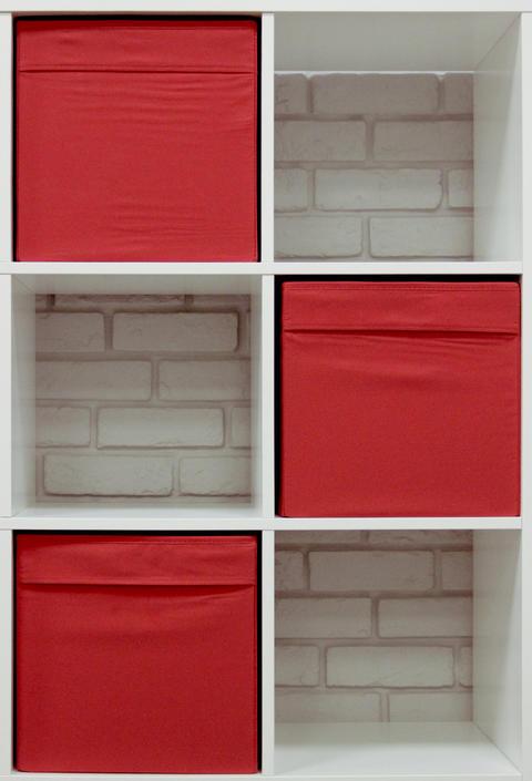 Modern bookshelves with red accent horizontal Fotografía