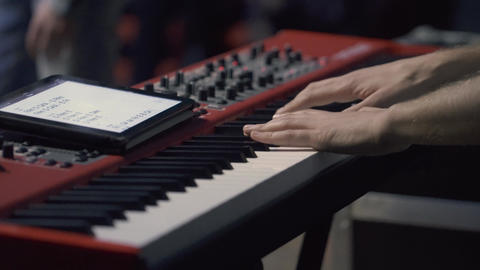 Man Hands Playing Piano Footage