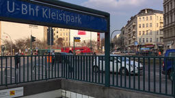 Traffic At Metro Station Kleistpark In The Inner City of Berlin, Time Lapse Footage