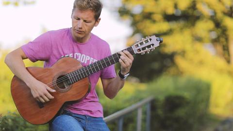 Man Playing Guitar Footage
