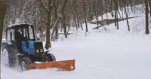Snow Removal in the winter Footage