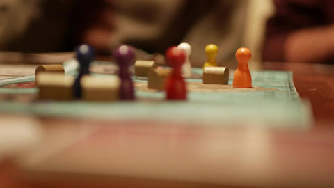 Board game playing with pawns - shallow depth of field Footage