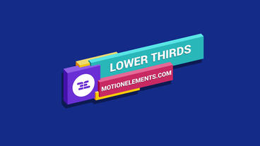 Isometric Lower Thirds Premiere Pro Template