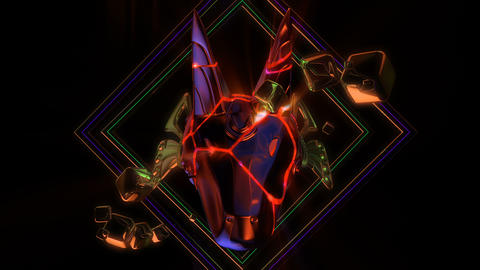 Cracked Anubis Head VJ Loop Animation
