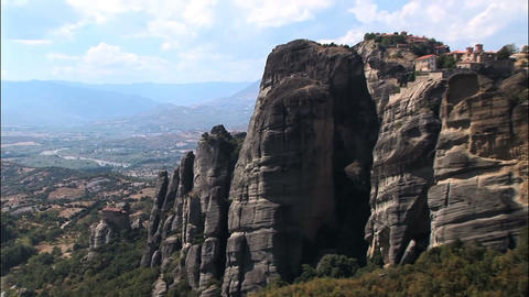 big mountains in Meteora Footage
