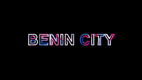Letters are collected in Big city BENIN CITY, then scattered into strips. Alpha Animation