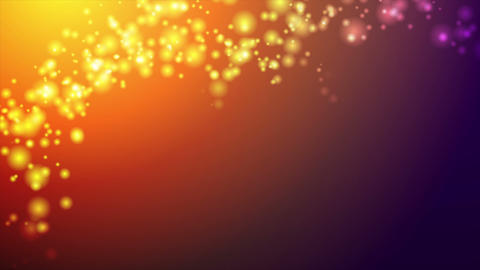 Orange and purple abstract shiny lights video animation Animation
