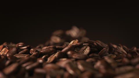 Exploding coffee beans in real super slow motion Animation