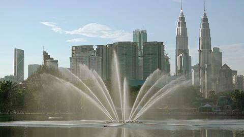 Morning in Kuala Lumpur. Slow Motion Image
