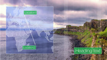 Slideshow map movement After Effects Template