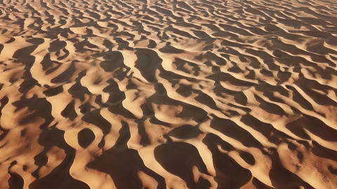 Aerial top view on sand dunes in Sahara desert Footage