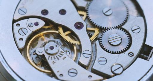 Vintage Watch Gears Footage