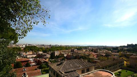 Rome cityscape seen from Janiculum promenade, Italy ビデオ