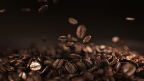 Exploding coffee beans in real super slow motion 画像