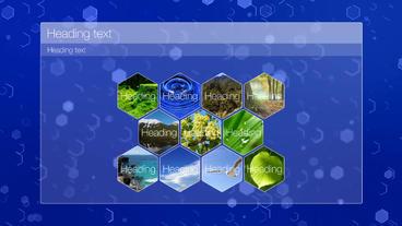 List hexagons After Effectsテンプレート