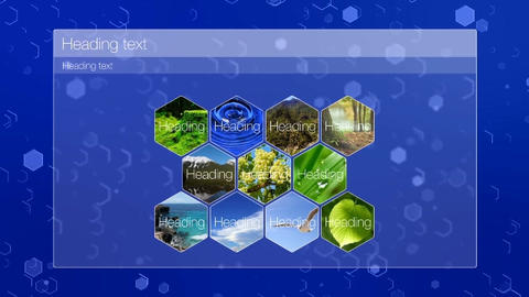 List hexagons After Effects Template