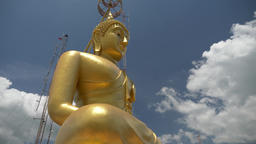 Big Buddha gold statue Footage