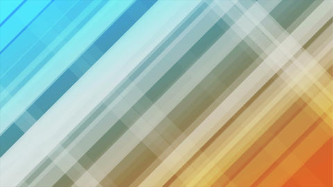Blue and orange diagonal stripes abstract video animation Animation