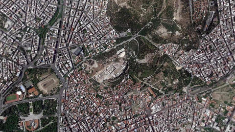 Earth Zoom In Zoom Out Acropolis Athens Greece Footage
