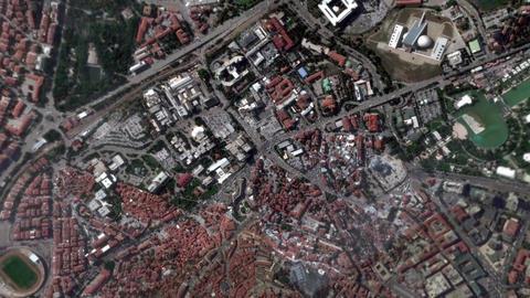 Earth Zoom In Zoom Out Ankara Turkey Footage