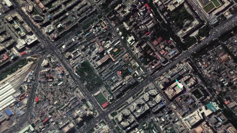 Earth Zoom In Zoom Out Beijing China Footage