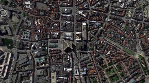 Earth Zoom In Zoom Out Brussel Belgium Footage
