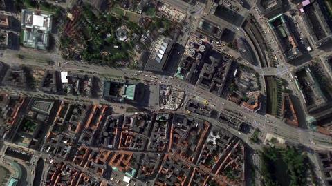Earth Zoom In Zoom Out Copenhagen Denmark Footage