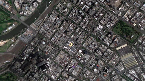 Earth Zoom In Zoom Out Melbourne Australia Footage