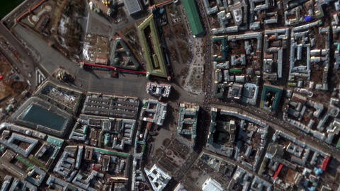 Earth Zoom In Zoom Out Moscow Russia Footage