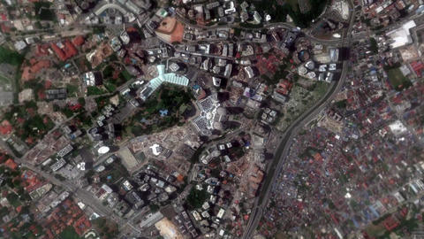 Earth Zoom In Zoom Out Petronas Twin Tower Kuala Lumpur Malaysia Footage