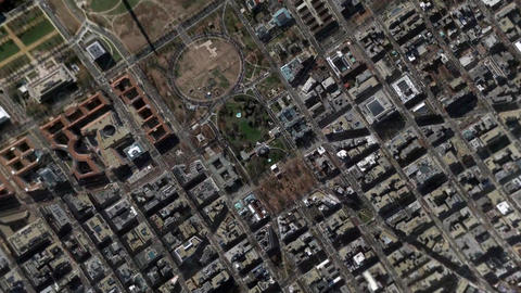 Earth Zoom In Zoom Out White House Washington Maryland United States Footage