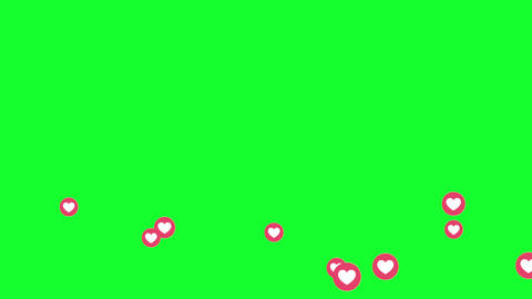 Facebook Video Love Live Reactions Green Screen Animation