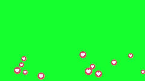 Facebook Video Love Live Reactions Green Screen Stock Video Footage