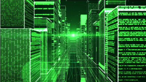 Three-dimensional digital space Footage
