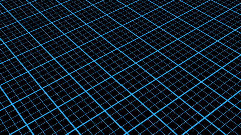 Blue Millimeter Spinning Grid Retro Abstract Motion Background Loop CG動画素材