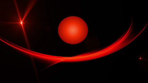 Elegant Fiery Red Motion and Symbol of Sun Animation