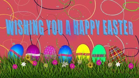 EASTER WISHES - Wishing you a Happy Easter Animation