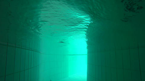 Underwater Pool Creeping Footage Live Action