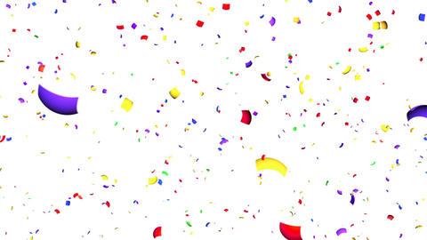 Confetti Non blur HD BW Stock Video Footage