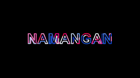 Letters are collected in city NAMANGAN, then scattered into strips. Alpha Animation