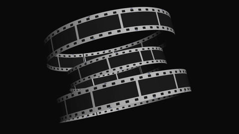 Animated loop of film reel in motion Footage