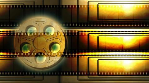 Film Reel Animated Background Loop Footage